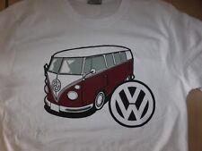 TEE SHIRT blanc VOLKSWAGEN VW COMBI T1 SPLIT ( tailles S M L XL XXL) t-shirt