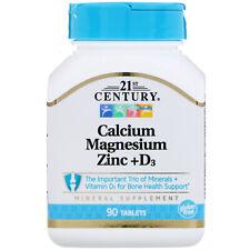 Calcium Magnesium Zinc + D3, 90 Tablets