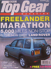 Top Gear magazine 12/1997 featuring Yamaha, Honda, Land Rover, Subaru, Toyota