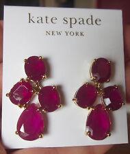 RARE Kate Spade Amethyst Purple Gem Drop Dangle Chandelier earrings post stud