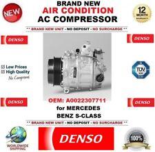 DENSO NEW AIR CONDITION AC COMPRESSOR FEO: A0022307711 for MERCEDES BENZ S-CLASS
