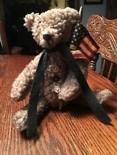 Primitive Folk Art Patriotic Bear