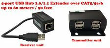 4-ports USB 2.0/1.1 extender over CAT5e cable up to 60m/90 feet