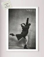 Designer art print home decor black & white beauty fashion vogue photography