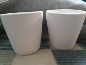 Yankee Candle Pair Of White Terracotta Votive Holders