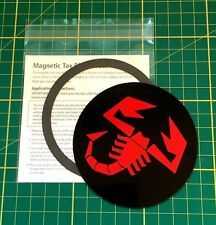 Universal Magnetic Tax Disc & Permit Holder - BLACK AND ABARTH RED