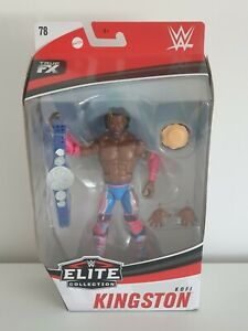 "MATTEL / WWE ELITE COLLECTION SERIES 78 / KOFI KINGSTON / 7"" ACTION FIGURE"