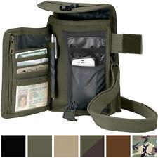 Travel Organizer Pouch Canvas Passport Holder Wallet Case Portfolio Shoulder Bag