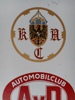Rare Vintage 1955 GERMAN AUTOMOBILCLUB tin sign very RAR