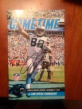 Greg Olsen Signed Autograph Carolina Panthers Gameday Magazine Chargers Victory