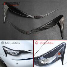 Carbon Fiber Headlight Eyelid Eyebrow Trim Cover For Lexus IS 200t 250 2013-2015