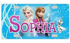 FROZEN MINI LICENSE PLATE ELSA & ANNA Bicycles Wagons Door Sign Kids Personalize