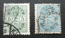 Denmark-1885-2 issues-Used