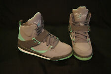 3a490a97473 Nike Air Jordan Flight 45 High IP girls size 6Y grey light green 837024-