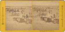 Les Bains à Ostende Belgique Stéréo Albumine Vintage ca 1870