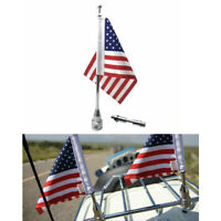 Motorcycle Rear Side Antenna Mount American Flag Pole for harley Universal CB