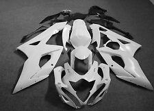 Fairing kit bodywork Unpainted white Molded ABS for SUZUKI GSXR 1000 2005-2006