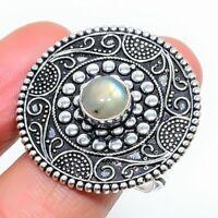 Labradorite Ethnic Gemstone Handmade Gift Jewelry Ring Size 9.5 JH