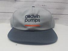 Godwin Pumps Snapback Trucker Hat Grey Orange Mesh
