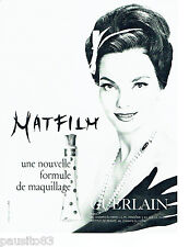 PUBLICITE ADVERTISING 096  1963  Guerlain  cosmétiques Matfilm maquillage