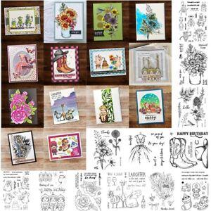 Flowers Animals  Christmas Metal Cutting Dies Clear Stamp Embossing DIY Craft