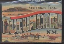 Postcard Tucumcari New Mexico/Nm Large Letter Greeting Card views 1930's