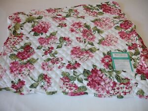 New! S/2 Quilted Floral Hydrangea Flowers Spring Kitchen Placemats Place Mat Set