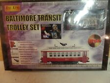 NEW SEALED MTH RAIL KING TRAIN BALTIMORE TRANSIT RAILROAD TROLLEY SET 30-4027-0