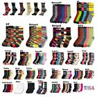 12 Pair Lot Lady Design Crew Socks Pattern Argyle Stripe Casual Women Girl 9-11