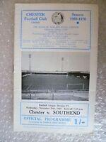1969 CHESTER v SOUTHEND, 26th Nov (League Division 4)