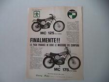 advertising Pubblicità 1974 MOTO PUCH MC 125/MC 175