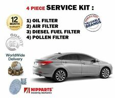 Per HYUNDAI i40 1.7 CRDi 2011 - > KIT Di Servizio Olio Aria Carburante Polline (4) Filtro impostato