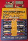Larson Bait Vintage Display Card 12 Minnow Harness Fishing Lure Aitkin Minnesota