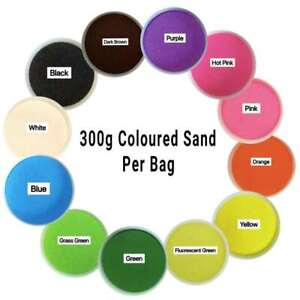 Coloured Sand 300g / Bag All Color Sand for School/Home/Party/Wedding/Craft/Art