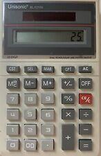 Vintage Unisonic XL-1018X Dual Power Calculator Solar & Battery