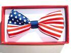 Children PATRIOTIC US AMERICAN FLAG USA Kids Boy Toddler Pet Baby Child Bow Tie