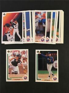 1991 Upper Deck Houston Astros Team Set With Update 35 Cards Jeff Bagwell RC
