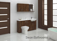 OLIVEWOOD BATHROOM FITTED FURNITURE 1600MM WITH WALL UNITS