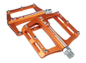 SMS0.1plus Aluminum XC AM MTB Road Bike Bearing Pedals flat Pedal 100*98 Orange