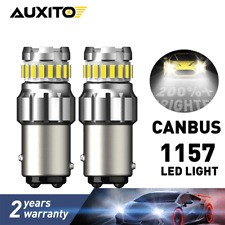 2X 1157 1142 BAY15D CNABUS Error Free WHITE Light Brake Stop Signal LED BULBS
