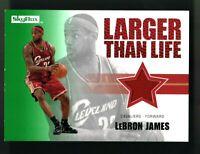 2008-09 Skybox Retail Larger Than Life Memorabilia RED Lebron James #LL-LJ