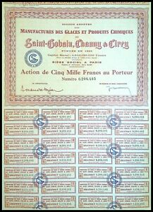 Saint-Gobain, Chauny & Cirey, Manufacture des glaces N° 0206485