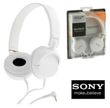 Sony MDR-ZX100 Stereo Wired Headphones Powerful Sound Headband White Brand New