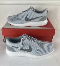 Nike Roshe Two Flyknit Men's Shoes Pure Platinum/White-Wolf 844833-01