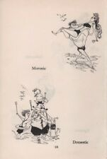Ronald Searle vintage 1953 original bookplate - how to get in the sea