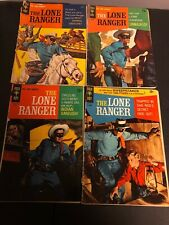 4 RARE VINTAGE GOLD KEY LONE RANGER MAGAZINES ALL DIFFERENT ISSUES!