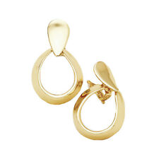 Clip Kreolen Creolen Ohrclips Clips Gold Ohrringe Glatt Anti-Allergisch 8 cm Dur