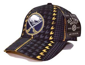Buffalo Sabres OTH NHL Bridge Houndstooth Stretch Fit Team Logo Hockey Cap Hat