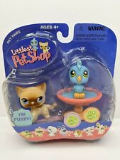 NEW Littlest Pet Shop RARE 317 318 FUZZY Siamese Cat Kitty Blue Bird LPS NIP NOS