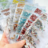 1728pcs Nail Art Rhinestones Glitter Diamonds Crystal Gems 3D UV Tips Decoration